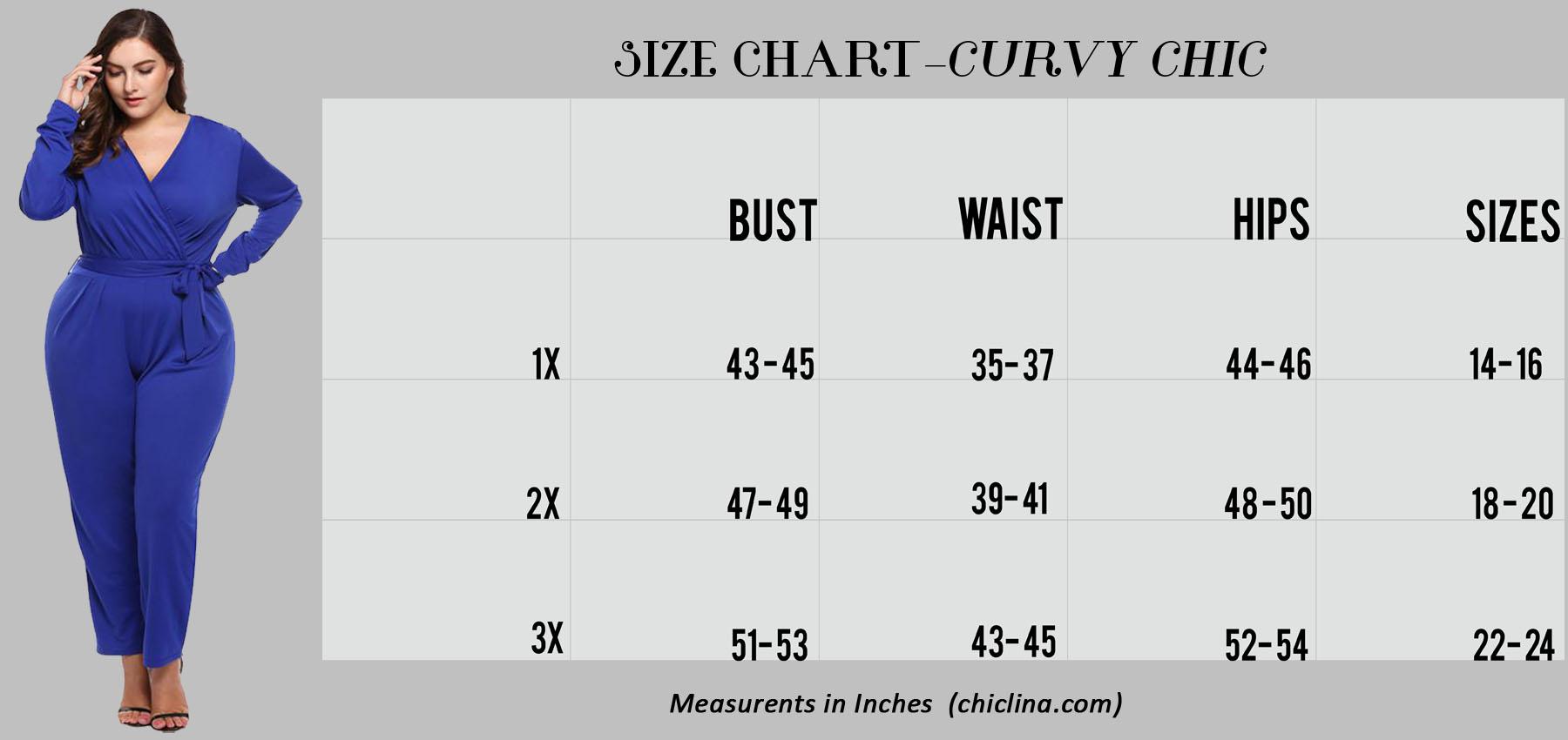 Chic Lina Size Chart