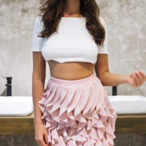 Shake It Off Ruffle Pleated Skirt Chic Lina