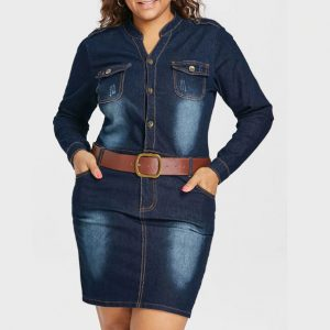 irytale Denim Dress Chic Lina