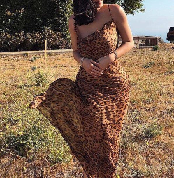 Liana Leopard Dress Chic Lina
