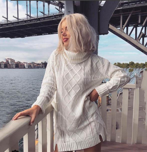 Morgan Sweater Dress Chic Lina