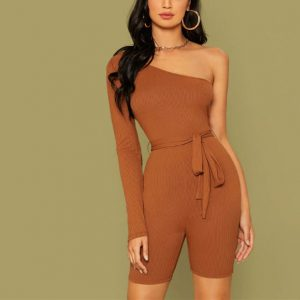 Adela One Shoulder Romper Chic Lina
