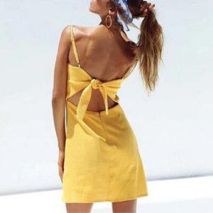 Olivia Bow Tie Dress Chic Lina