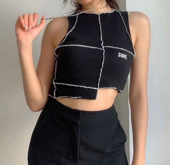 Make Moves Patched Top Chic Lina Collections