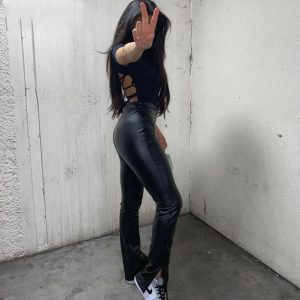 Trigger PU Leather Pants Chic Lina Collections